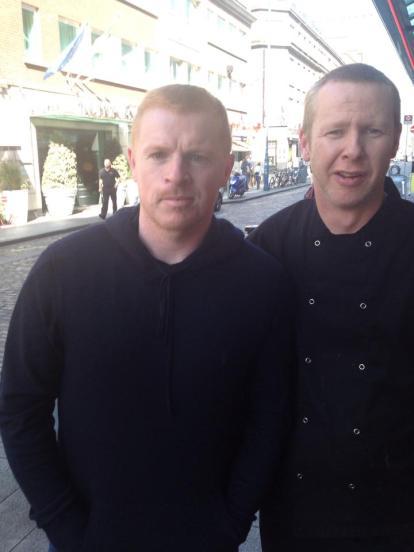 Martin O'Shea with Neil Lennon