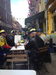 Swedish Fans Al Fresco at O'Sheas