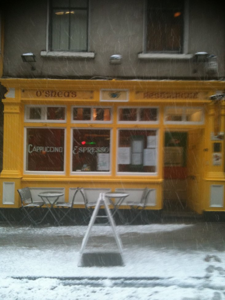 Snow at O'Sheas