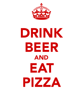 drink-beer-and-eat-pizza