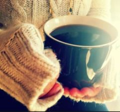 cosy jumper and cuppa